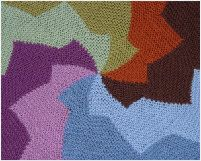 Revolution Afghan from Woolly Thoughts - home of lots of inspired mathematical knitting.