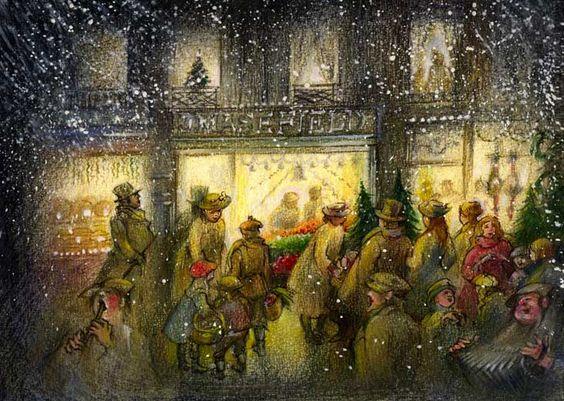 victorian christmas scenes - photo #15