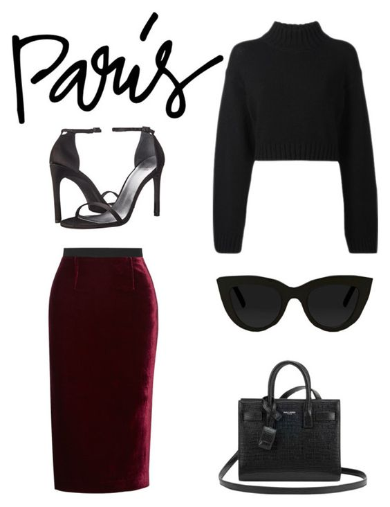 """""""Untitled #240"""" by lacywoods ❤ liked on Polyvore featuring Roland Mouret, DKNY, Stuart Weitzman, Yves Saint Laurent and Quay"""