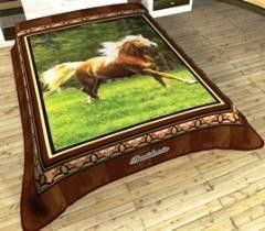This awesome design of Galloping Horse Full Blanket just captured my heart. I think every horse-lover will love this.