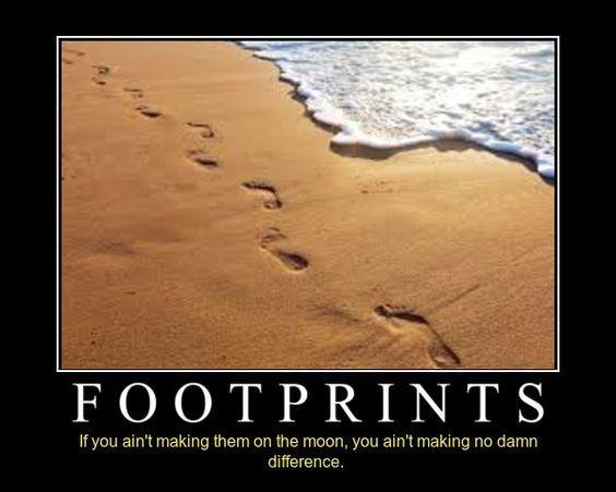 Demotivational Posters Footprints Demotivational Posters Life
