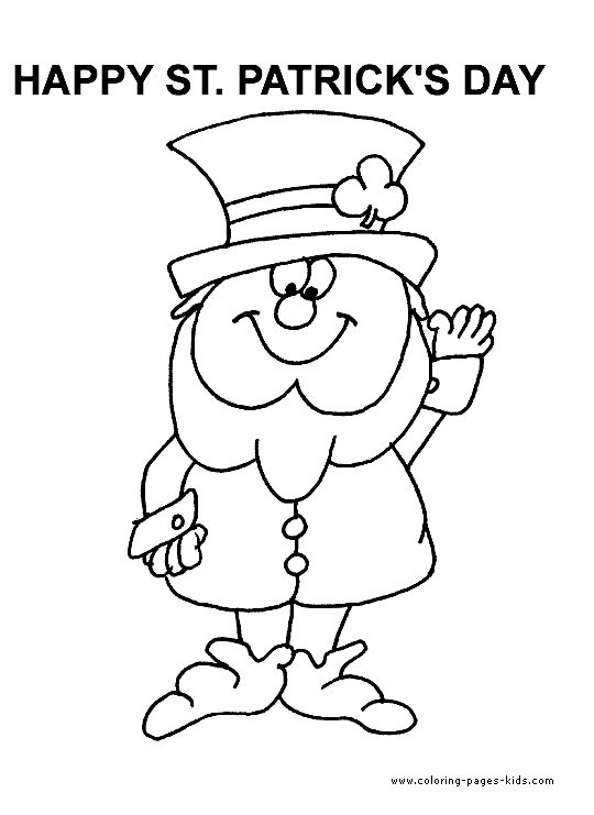 o byrnes st patricks day coloring pages - photo #24