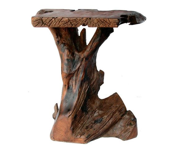 Tree trunk tables how to make tree trunk furniture - Chair made from tree trunk ...