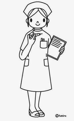 Dibujos Para Colorear Maestra De Infantil Y Primaria Dibujos Para Colorear Escenas De M Oficios Y Profesiones Enfermera Para Colorear Profesiones Para Ninos