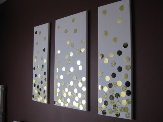 Wall Art Using Paper : Punch canvas wall art and headboard makeover on
