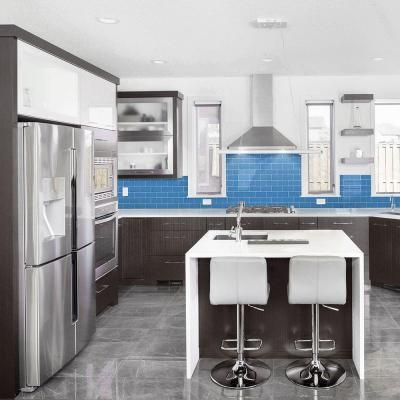 Jeffrey Court Brick in Blues 12 in. x 12 in. x 8 mm Glass Mosaic Wall Tile-99704 - The Home Depot