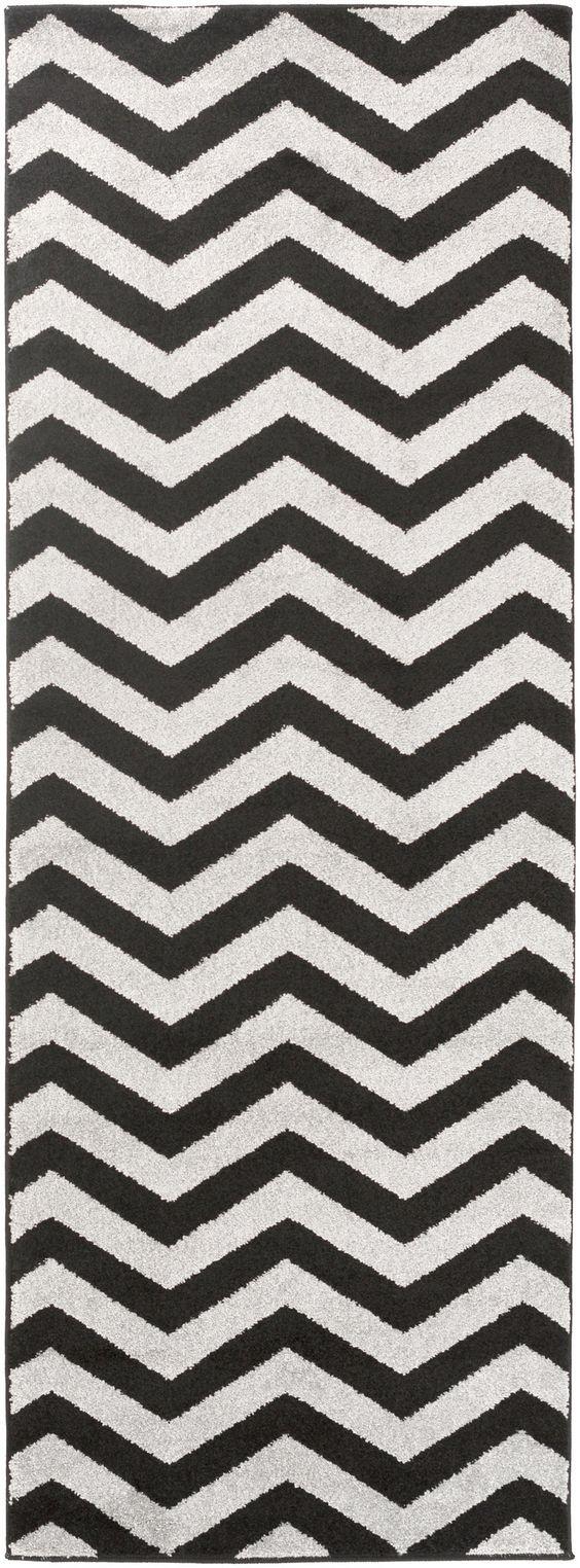 Horizon Charcoal/Black Area Rug