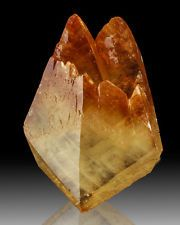 "6.1"" Orange Tipped Golden CALCITE Crystals Dbl Terminated Elmwood TN"