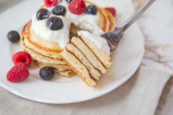 Make and share this Greek Yogurt Pancakes recipe from Food.com.