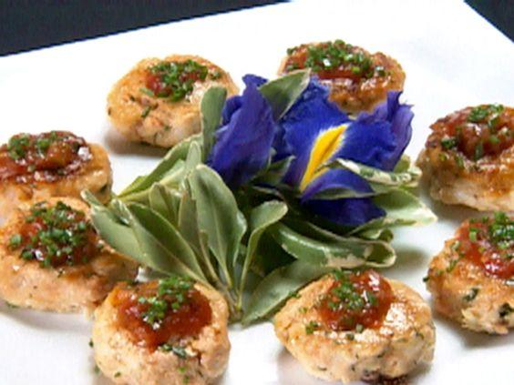 Seafood Spheres on Crostini Recipe : Robert Irvine : Food Network - FoodNetwork.com