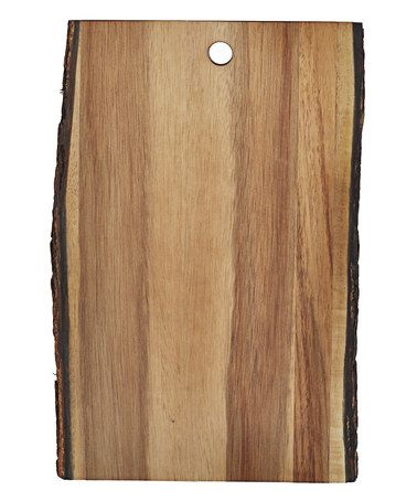 Another great find on #zulily! Bark-Lined Acacia Wood Display Board #zulilyfinds