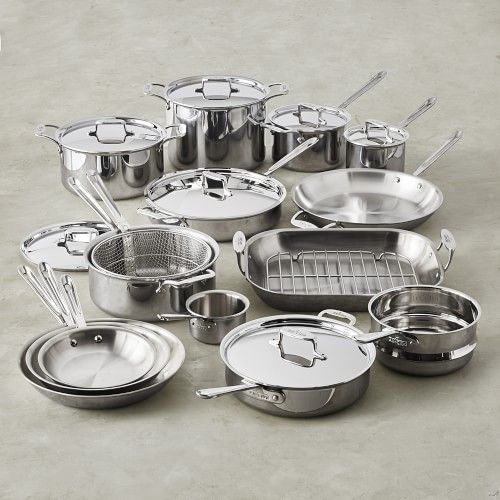 All Clad D5 Stainless Steel 23 Piece Ultimate Cookware Set