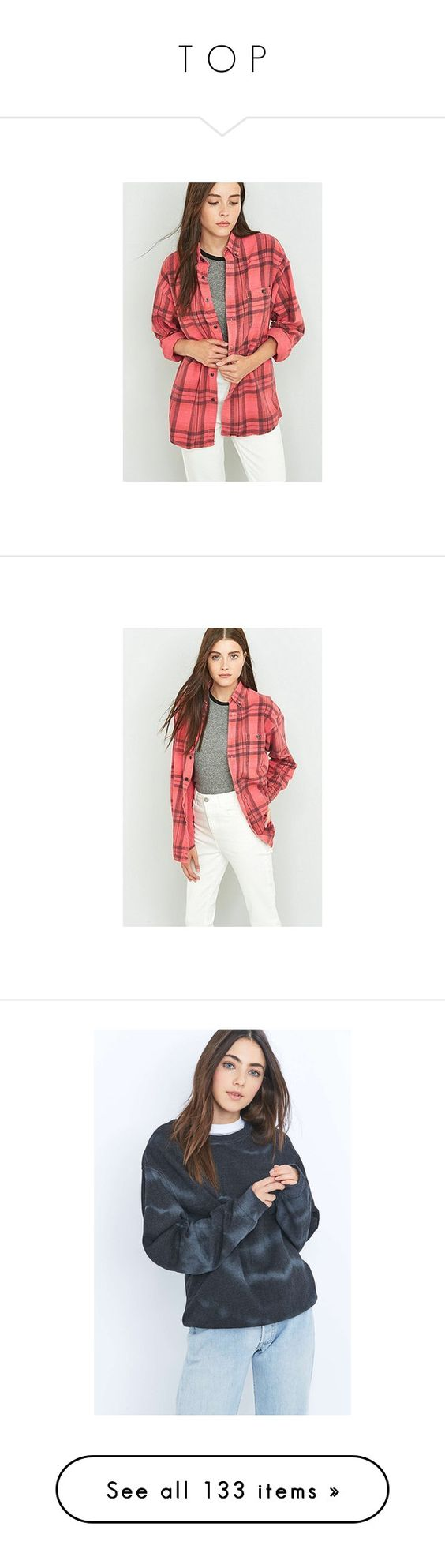 """T O P"" by lion-bar ❤ liked on Polyvore featuring tops, red button down shirt, red flannel shirt, oversized plaid shirt, button up shirts, red plaid shirt, plaid shirts, vintage shirts, plaid button down shirt and white button down shirt"
