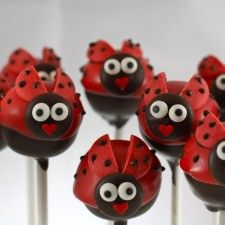 lady bug---My big sister would love these-- she would probably think that they are too cute to eat!