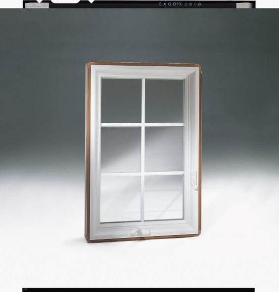 White interior casement window with Colonial Style Grilles