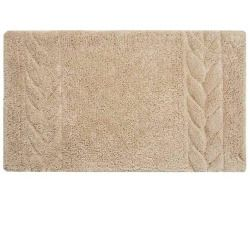 awesome Cable Pattern Bath Rug in Beige and Tan (50 in. L x 30 in. W)