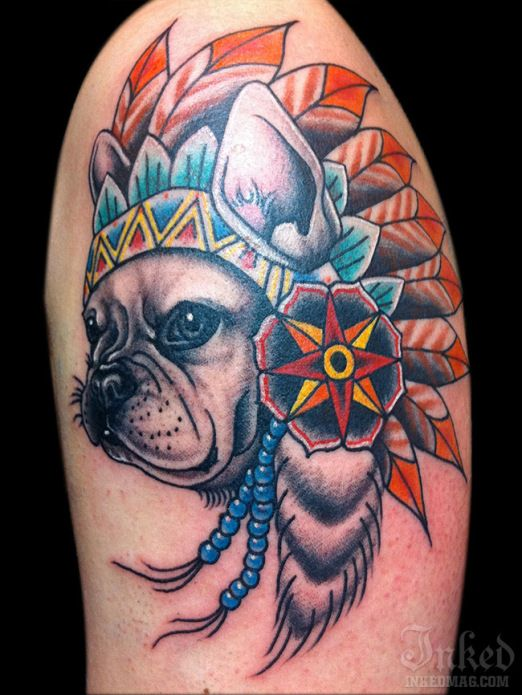 native american headdress french and dog tattoos on pinterest. Black Bedroom Furniture Sets. Home Design Ideas