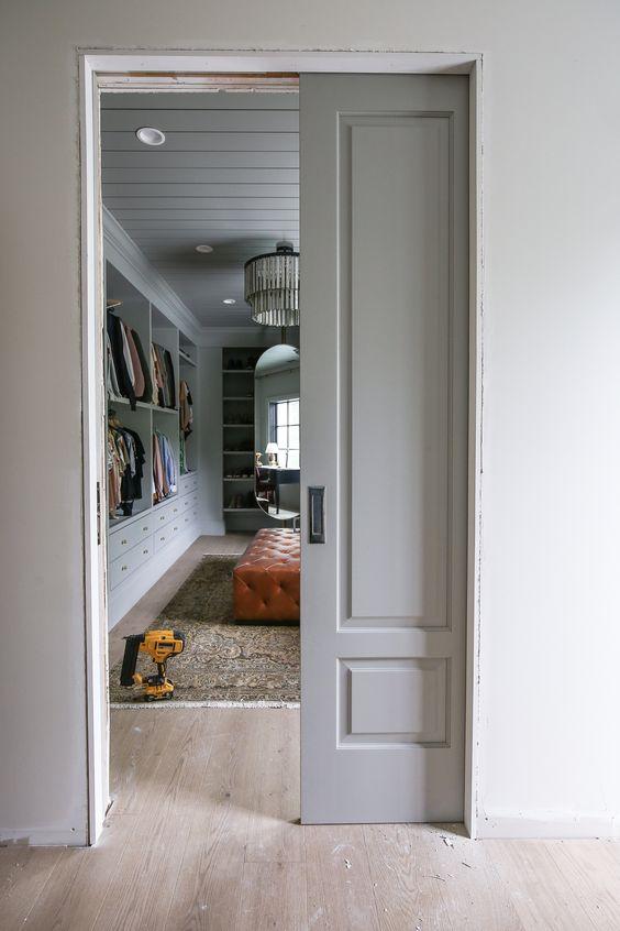 Installing Pocket Doors in the Closet - Chris Loves Julia