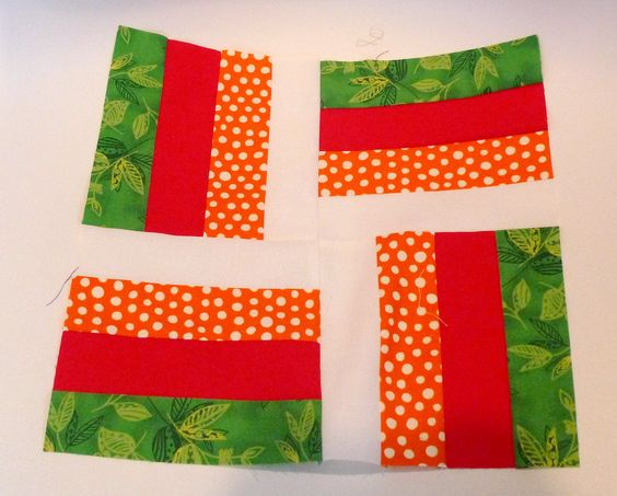 https://flic.kr/p/9mGXz4 | 3x6 Bee - 1ToeFeather's block | Green,Orange,Red