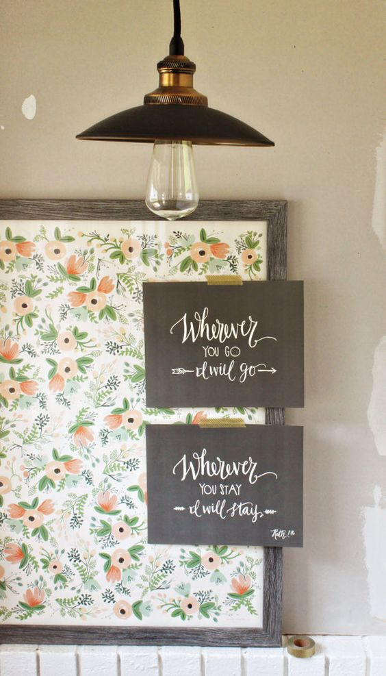 Wherever You Go I Will Go Set of Two // Original Calligraphy Print // Ruth 1:16