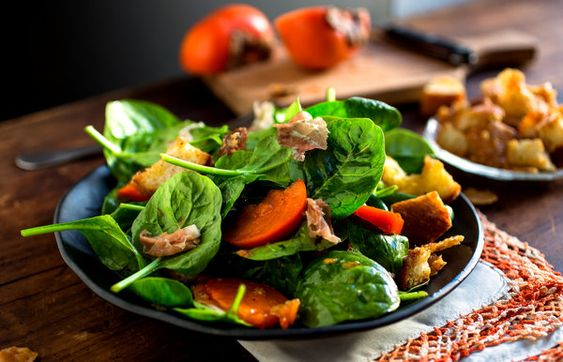 Spinach Salad with Prosciutto and Persimmon - Recipes - The New York Times