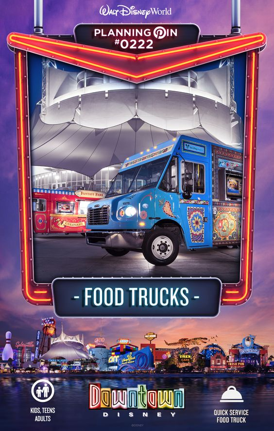 Walt Disney World Planning Pins: Food Trucks