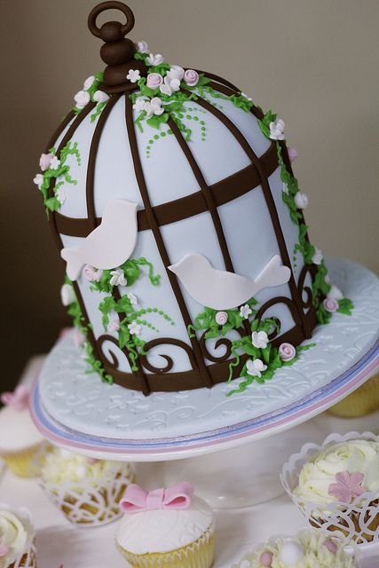 pretty vintage bird cage cakes | Bird Cage cake | Flickr - Photo Sharing!