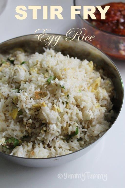Stir Fry Egg Rice Recipe Veg Pulao Stir Fry With Egg Rice