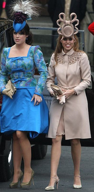 Beatrice and Eugenie, what were they thinking? #hats
