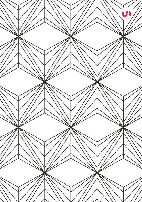 Simple Line Geometric Patterns Pattern Coloring Pages Simple