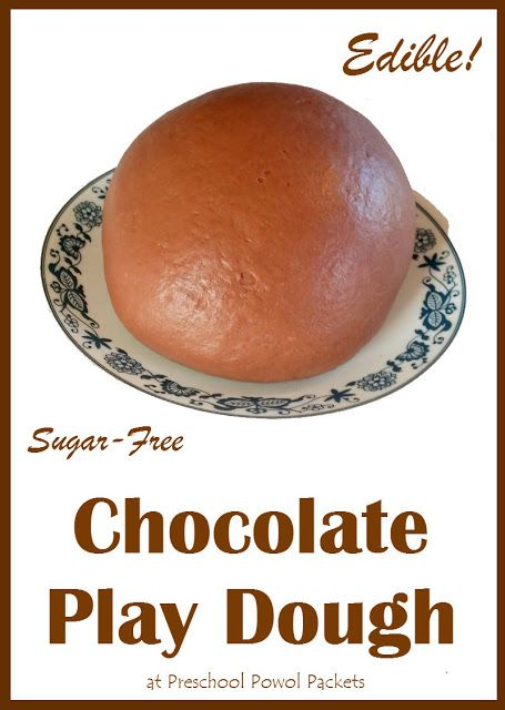 Edible Chocolate Play Dough   Preschool Powol Packets
