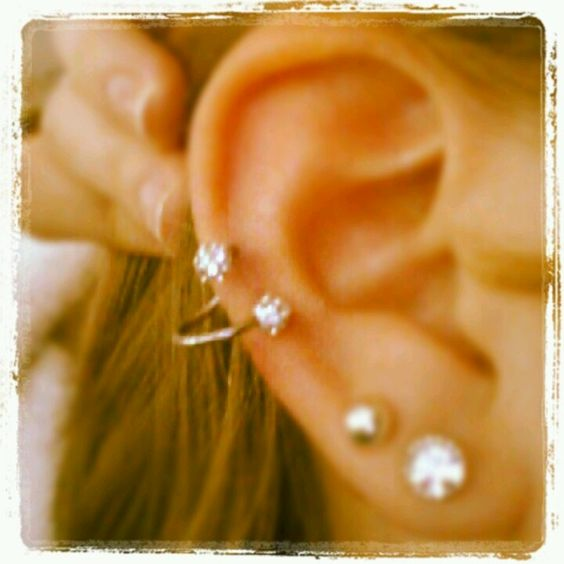 explore spiral cartilage cartilage earring and more cartilage earrings ... Ear Piercings Cartilage