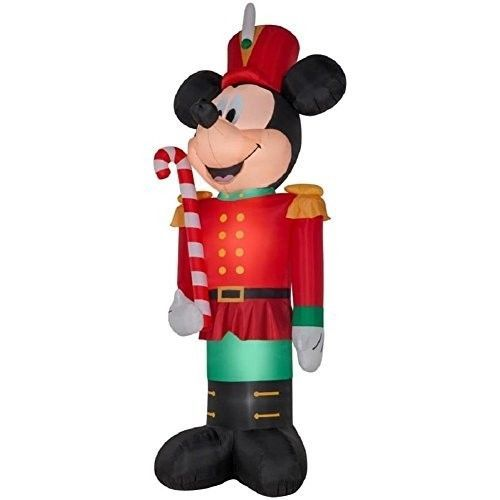 Disney 10.5Ft Mickey Mouse Santa w// Candy Cane Airblown Inflatable Christmas