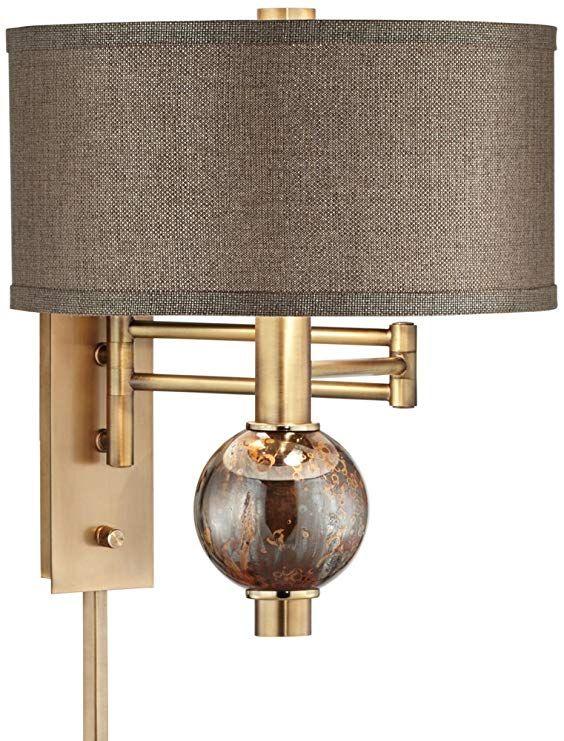Richford Brass Plug In Swing Arm Wall Lamp With Dimmer Swing Arm Wall Lamps Wall Lamp Lamp