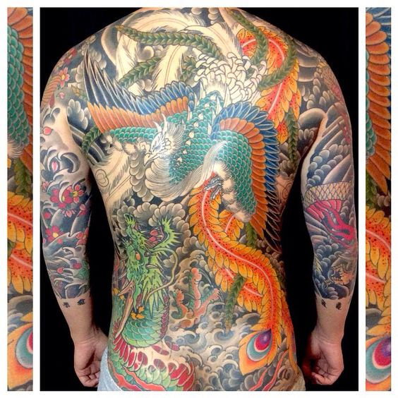 Henning Jorgensen Royal tattoo Denmark Beautiful Phoenix