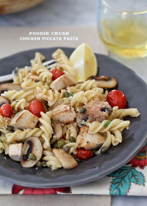 Chicken Piccata Pasta from foodiecrush.com