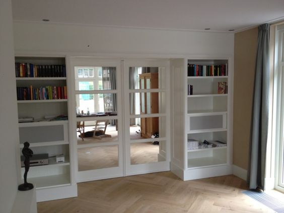 Bookcases bonus rooms and storage ideas on pinterest - Partition kamer ...
