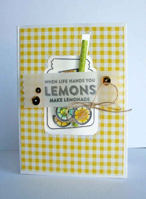 When Life Hands You Lemons Card by Nicole Nowosad featuring Jillibean Soup Shape Shakers: