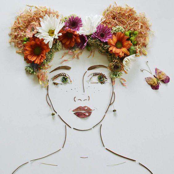 """""""Verão"""" Cara Flor Imprimir"""