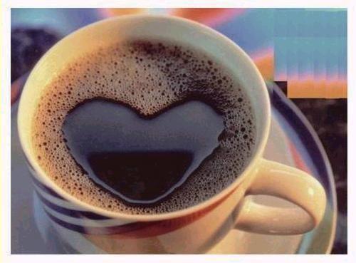 Un taza de café expresando amor!