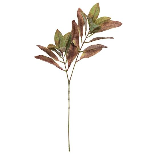 Green Brown Oval Leaf Stem By Ashland In 2021 Farmhouse Fall Decor Green And Brown Fall Floral