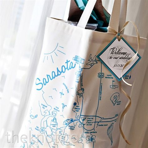 ... idea a bag with a map of where youre married for the out-of-towners