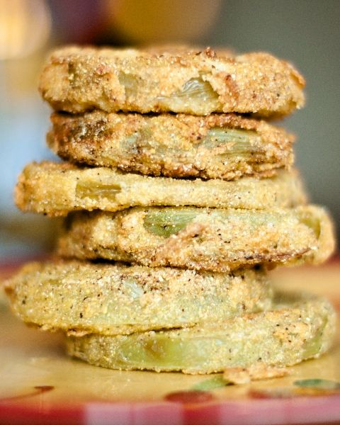 Fried Green Tomatoes oh so yummy!