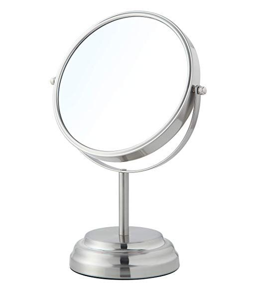 Sunnypoint 8 Inch Large Tabletop Two Sided Swivel Vanity Mirror