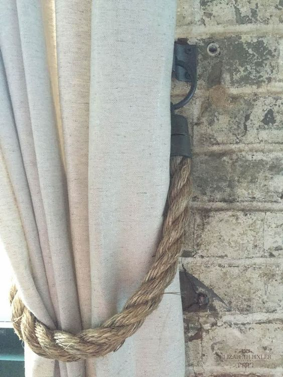 Amazing DIY curtain rope tie backs