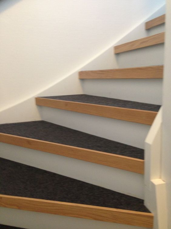 Trappa vit/grå/trä | Inredning | Pinterest | Stairs and House