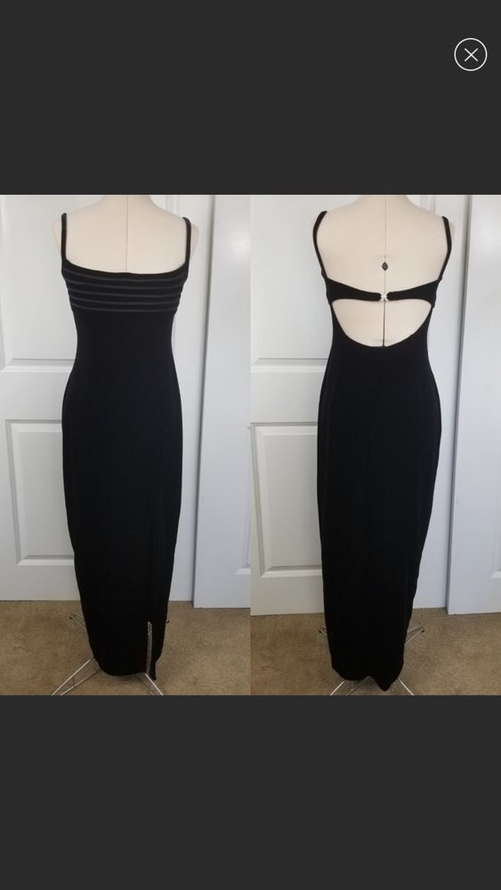 Ex Topshop Elegant Black Lined Lace Strappy Mini Party Dress Size 4 6 8 12