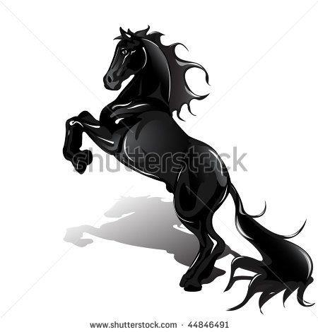 image detail for black horse horse tattoo symbol for design mustang icon horse tattoos. Black Bedroom Furniture Sets. Home Design Ideas