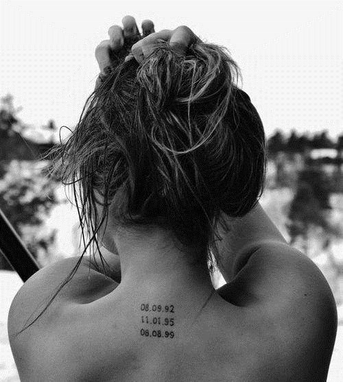 back of neck, #tattoos for women Children's birthdays b