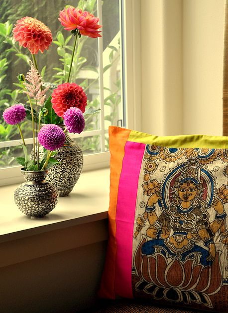 Kalamkari and Dahlias via My Dream Canvas: